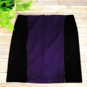 NWT Laundry Purple 2 Tone Quilted Pencil Skirt -14